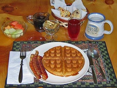 Belgian Waffle Breakfast